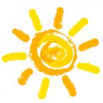 Sun symbol illustration